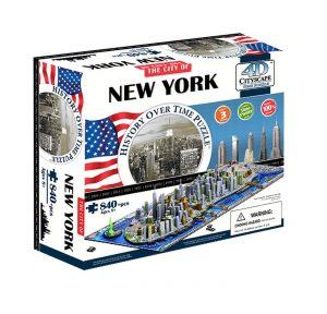 4D Cityscape Puzzle - New York. USA